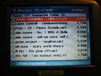 Browsing through my MP3s. Admire my musical taste!